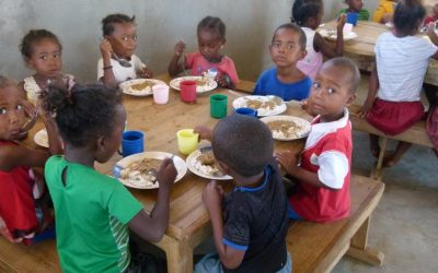 Photos : A table, dans les centres d'accueil de la région de Tuléar en 2018 et 2019